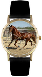 American Saddlebred / Classic Gold Whimsical Watches
