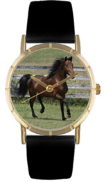 Morgan Horse Watch / Classic Gold Whimsical Watches