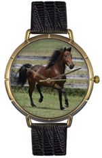 Morgan Horse Watch / Gold Whimsical Watches