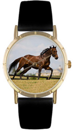 Thoroughbred Horse / Classic Gold Whimsical Watches