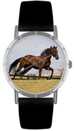 Thoroughbred Horse / Classic Silver Whimsical Watches