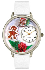 Christmas Gingerbread Watch / Silver