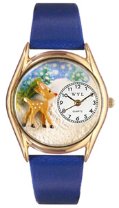 Christmas Reindeer Watch / Classic Gold