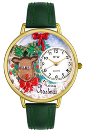 Christmas Reindeer Watch / Gold