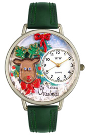 Christmas Reindeer Watch / Classic Silver