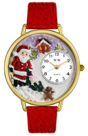 Christmas Santa Claus Watch / Gold