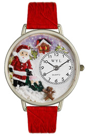 Christmas Santa Claus Watch / Silver