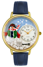Christmas Snowman Watch / Gold