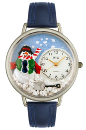 Christmas Snowman Watch / Silver