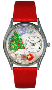 Christmas Tree Watch / Classic Silver