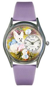 Easter Bunny Watch / Classic Silver