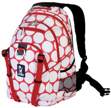 Serious Backpack Big Dots Red White Wildkin