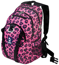 Serious Backpack Pink Leopard Wildkin