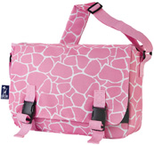 Jumpstart Messenger Bag Pink Giraffe Wildkin