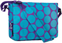 Kickstart Messenger Bag Big Dot Aqua Wildkin