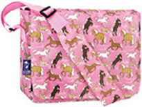 Kickstart Messenger Bag Horses in Pink Wildkin