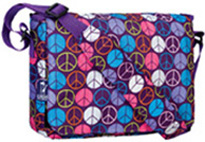 Kickstart Messenger Bag Peace Signs Wildkin