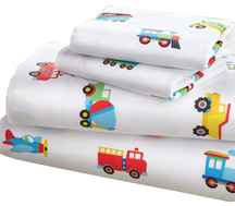Bed in a Bag 7 pc. FULL TRAINS, PLANES, TRUCKS