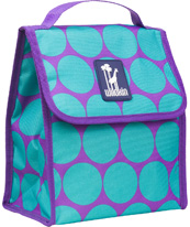 Big Dots Aqua Munch 'n Lunch Bag Wildkin