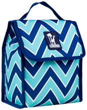 Munch 'n Lunch Bag Chevron Seabreeze