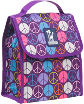 Peace Signs Purple Munch 'n Lunch Bag Wildkin