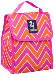 Munch 'n Lunch Bag Zigzag Pink