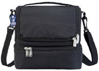 Double Decker Lunch Bag Rip-Stop Black Wildkin