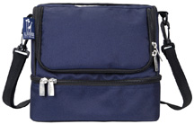 Double Decker Lunch Bag Whale Blue