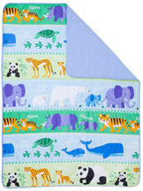 Light Weight Comforter Full ENDANGERED ANIMALS