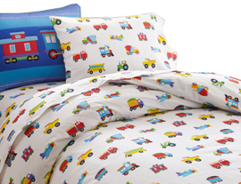 Duvet Cover Full TRAINS, PLANES, TRUCKS