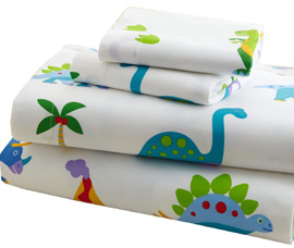 Cotton Full Sheet Set DINOSAUR LAND