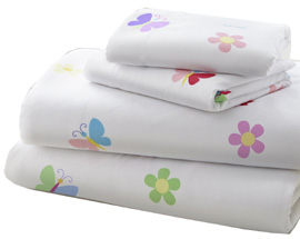 Microiber Sheet Set Full BUTTERFLY GARDEN