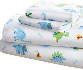 Microfiber Sheet Set Twin DINOSAUR LAND