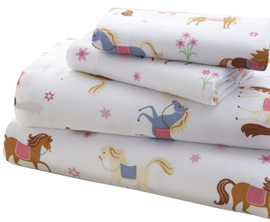 Microfiber Sheet Set Twin HORSES