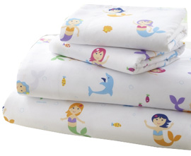 Microfiber Sheet Set Twin MERMAIDS