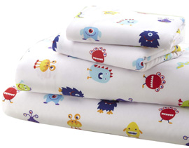 Microiber Sheet Set Full MONSTERS