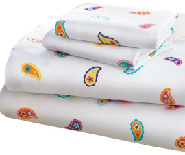 Microfiber Sheet Set Twin PAISLEY