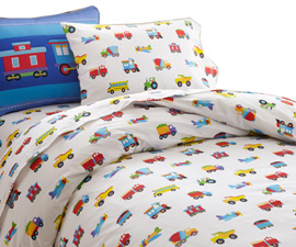 Cotton Duvet Twin TRAINS, PLANES, TRUCKS