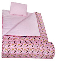 Original Sleeping Bag Horses in Pink Wildkin