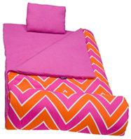 Original Sleeping Bag ZigZag Pink WILDKIN
