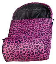 Stay Warm Sleeping Bag Pink Leopard Wildkin