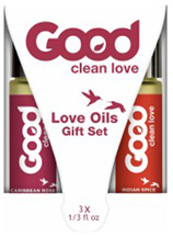 Love Oils Rollerball Gift Set, 3 pc. Good Clean Love