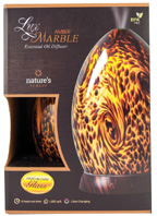 Essential Oil Diffuser Nature's Remedy Lux Marble Amber
