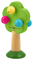 Natural Wood Rattle Tree Green Sprouts