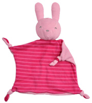 Organic Blankie Animal Pink Bunny Green Sprouts