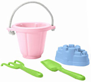 Sand Play Set Pink Green Toys