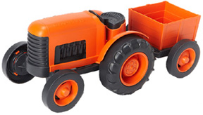 Tractor w/ Wagon Trailer Green Toys