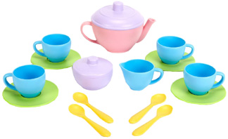 Tea Set 17 pc. Green Toys