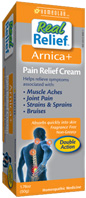 Real Relief Arnica+ Pain Relief Cream, 1.76 oz. HOMEOLAB USA