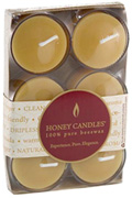 Tea Lights with Clear Cup 6 Pack Honey Candles Ltd.